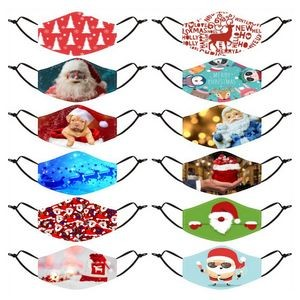 Adjustable Merry Christmas Face Mask